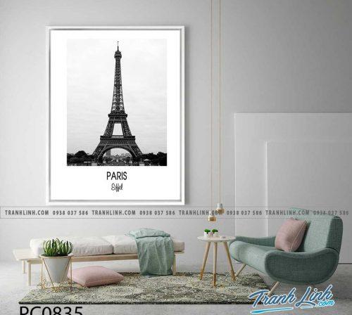 Bo tranh Canvas treo tuong trang tri phong khach phong canh PC0835