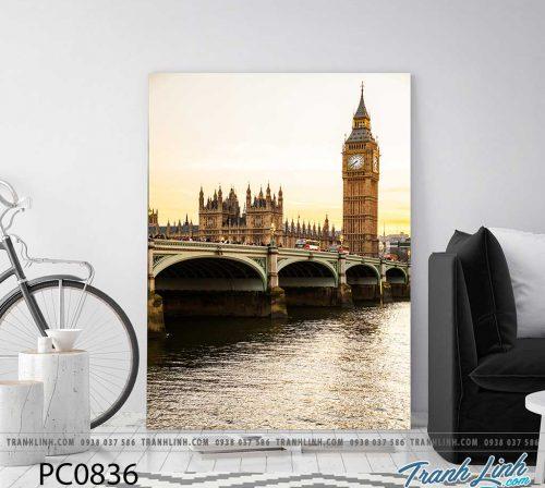 Bo tranh Canvas treo tuong trang tri phong khach phong canh PC0836