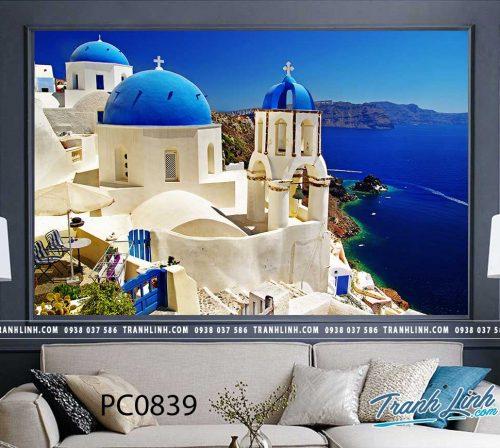 Bo tranh Canvas treo tuong trang tri phong khach phong canh PC0839