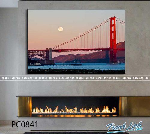 Bo tranh Canvas treo tuong trang tri phong khach phong canh PC0841