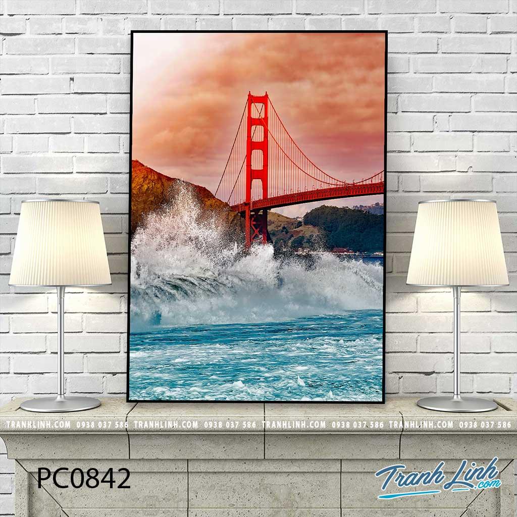 Bo tranh Canvas treo tuong trang tri phong khach phong canh PC0842