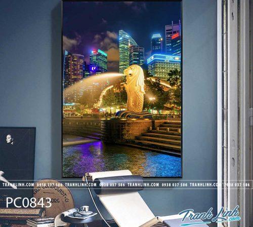 Bo tranh Canvas treo tuong trang tri phong khach phong canh PC0843
