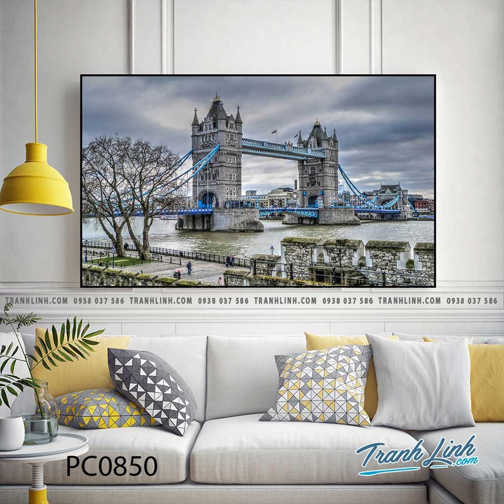 Bo tranh Canvas treo tuong trang tri phong khach phong canh PC0850