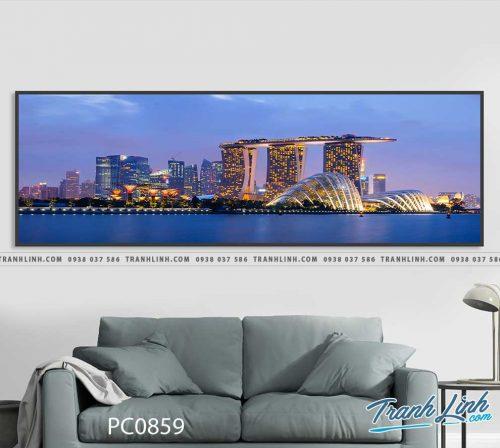 Bo tranh Canvas treo tuong trang tri phong khach phong canh PC0859