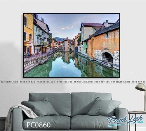 Bo tranh Canvas treo tuong trang tri phong khach phong canh PC0860