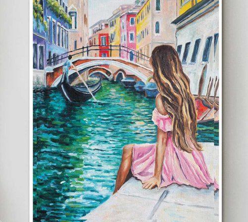 Bo tranh Canvas treo tuong trang tri phong khach phong canh PC0881