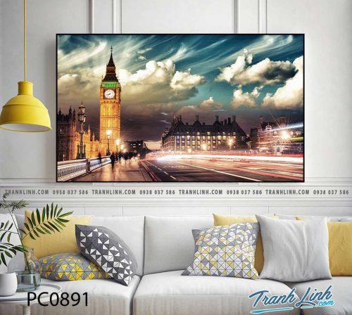 Bo tranh Canvas treo tuong trang tri phong khach phong canh PC0891