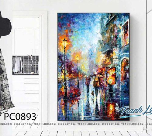 Bo tranh Canvas treo tuong trang tri phong khach phong canh PC0893