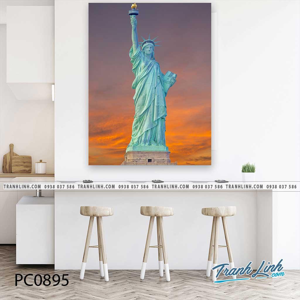 Bo tranh Canvas treo tuong trang tri phong khach phong canh PC0895