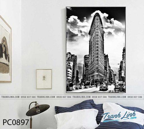 Bo tranh Canvas treo tuong trang tri phong khach phong canh PC0897