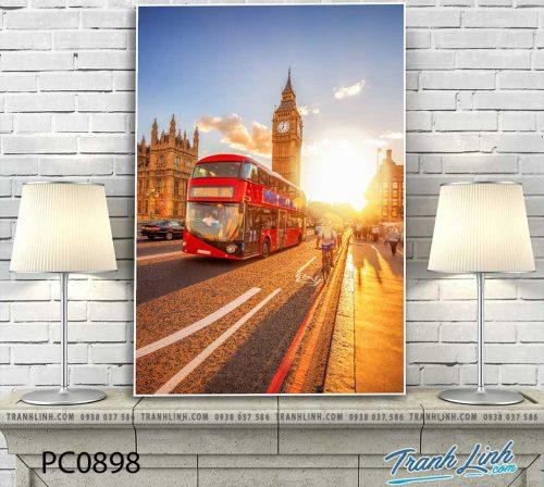 Bo tranh Canvas treo tuong trang tri phong khach phong canh PC0898