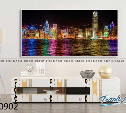 Bo tranh Canvas treo tuong trang tri phong khach phong canh PC0902