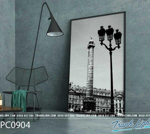 Bo tranh Canvas treo tuong trang tri phong khach phong canh PC0904