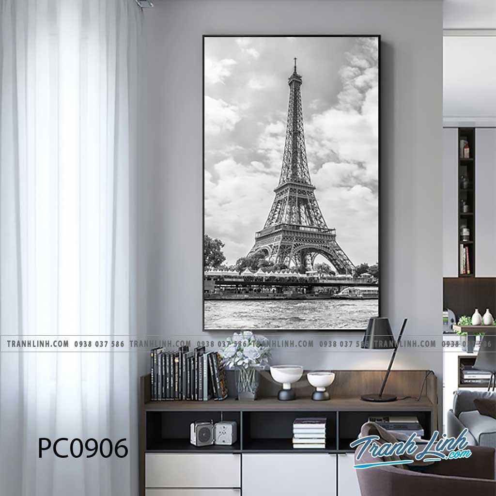 Bo tranh Canvas treo tuong trang tri phong khach phong canh PC0906