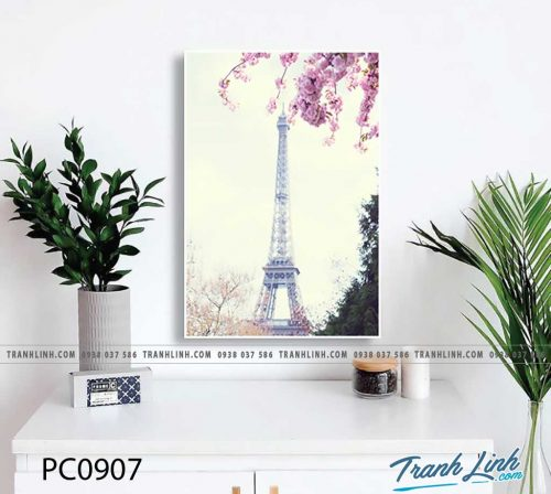 Bo tranh Canvas treo tuong trang tri phong khach phong canh PC0907