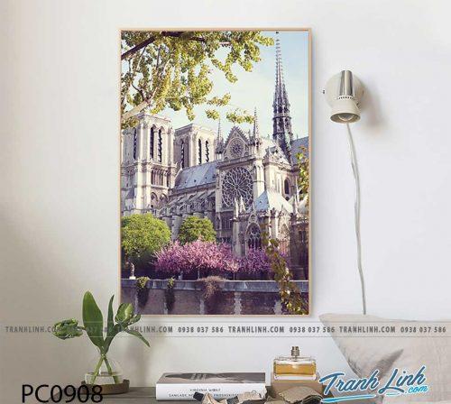 Bo tranh Canvas treo tuong trang tri phong khach phong canh PC0908