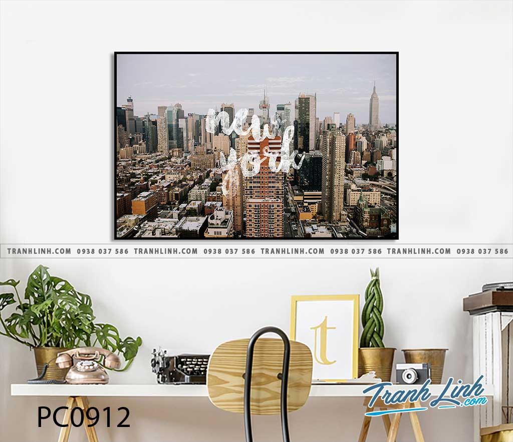 Bo tranh Canvas treo tuong trang tri phong khach phong canh PC0912