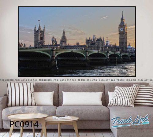 Bo tranh Canvas treo tuong trang tri phong khach phong canh PC0914