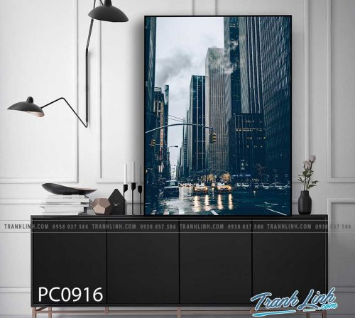 Bo tranh Canvas treo tuong trang tri phong khach phong canh PC0916