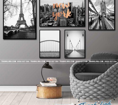 Bo tranh Canvas treo tuong trang tri phong khach phong canh PC0924