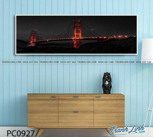 Bo tranh Canvas treo tuong trang tri phong khach phong canh PC0927
