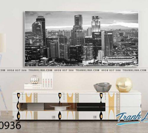 Bo tranh Canvas treo tuong trang tri phong khach phong canh PC0936