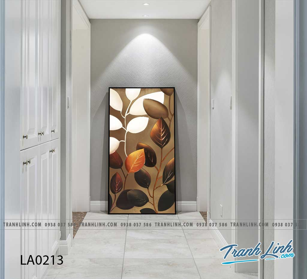 tranh canvas treo tuong trang tri la cay phong khach 236