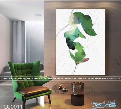 Bo tranh Canvas treo tuong trang tri phong khach co gai CG0011