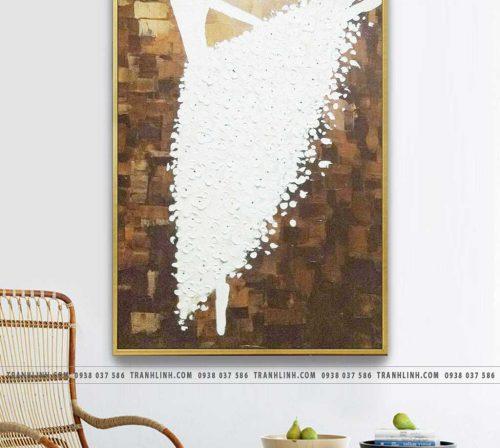 Bo tranh Canvas treo tuong trang tri phong khach co gai CG0152