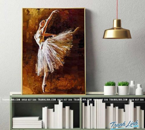 Bo tranh Canvas treo tuong trang tri phong khach co gai CG0188