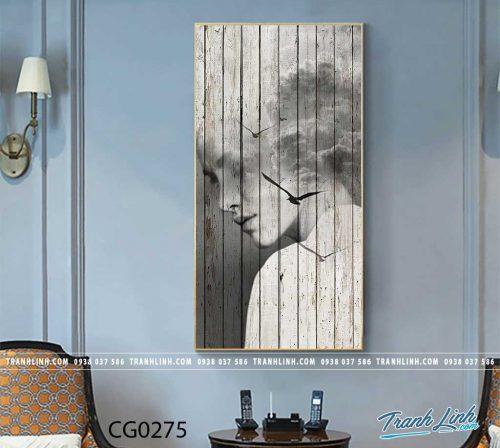 Bo tranh Canvas treo tuong trang tri phong khach co gai CG0275