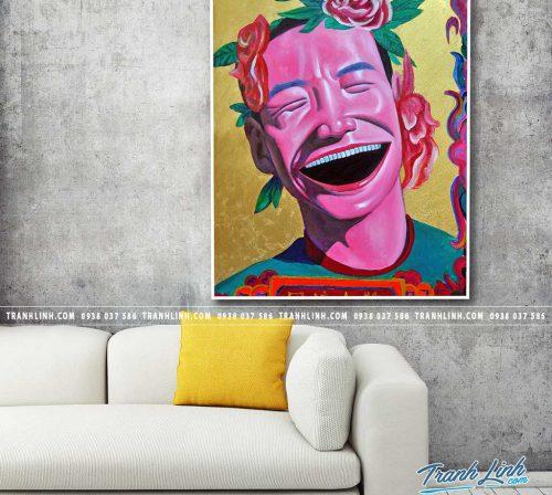Bo tranh Canvas treo tuong trang tri phong khach co gai CG0317