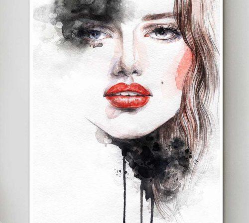 Bo tranh Canvas treo tuong trang tri phong khach co gai CG0345
