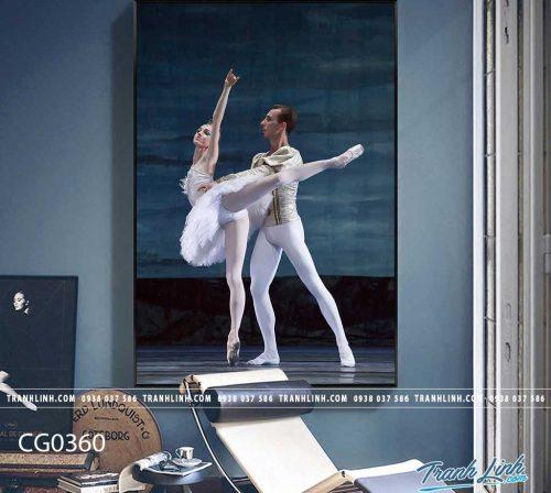 Bo tranh Canvas treo tuong trang tri phong khach co gai CG0360