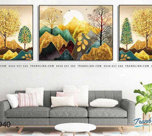 Bo tranh Canvas treo tuong trang tri phong khach phong canh PC0940