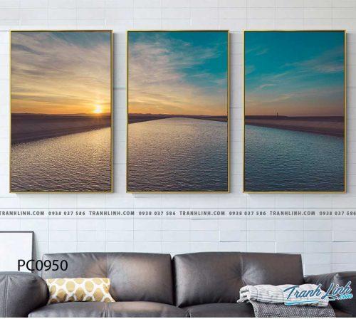 Bo tranh Canvas treo tuong trang tri phong khach phong canh PC0950