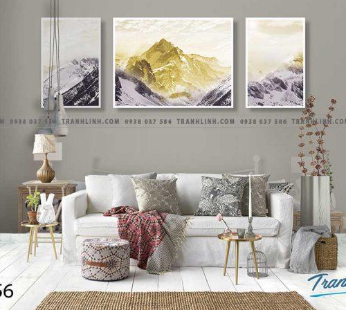 Bo tranh Canvas treo tuong trang tri phong khach phong canh PC0956