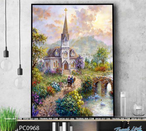 Bo tranh Canvas treo tuong trang tri phong khach phong canh PC0968