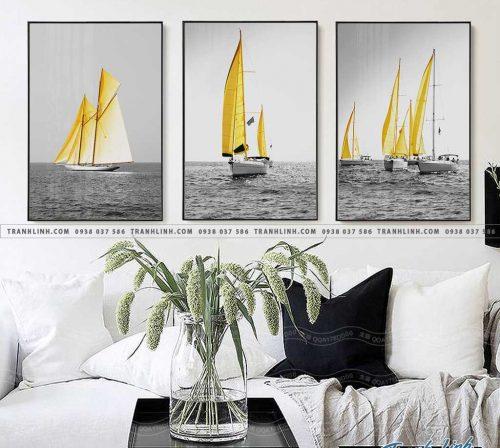 Bo tranh Canvas treo tuong trang tri phong khach phong canh PC0969 1
