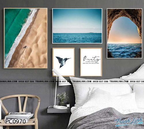 Bo tranh Canvas treo tuong trang tri phong khach phong canh PC0970