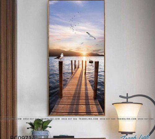 Bo tranh Canvas treo tuong trang tri phong khach phong canh PC0971