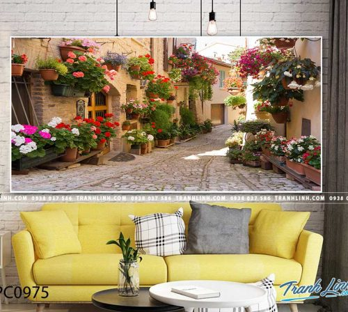 Bo tranh Canvas treo tuong trang tri phong khach phong canh PC0975