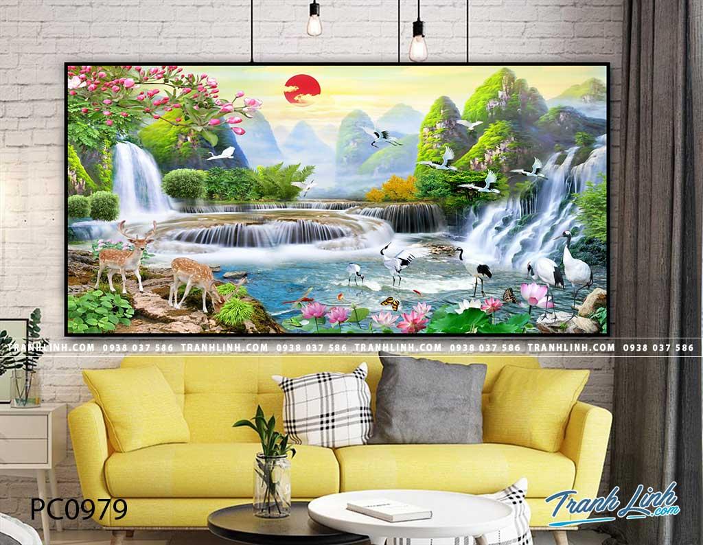Bo tranh Canvas treo tuong trang tri phong khach phong canh PC0979