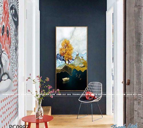Bo tranh Canvas treo tuong trang tri phong khach phong canh PC0997