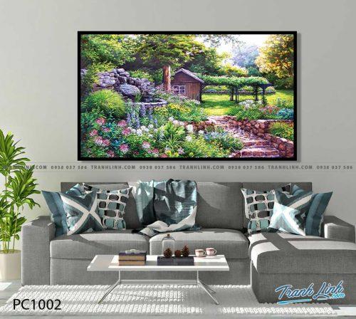 Bo tranh Canvas treo tuong trang tri phong khach phong canh PC1002