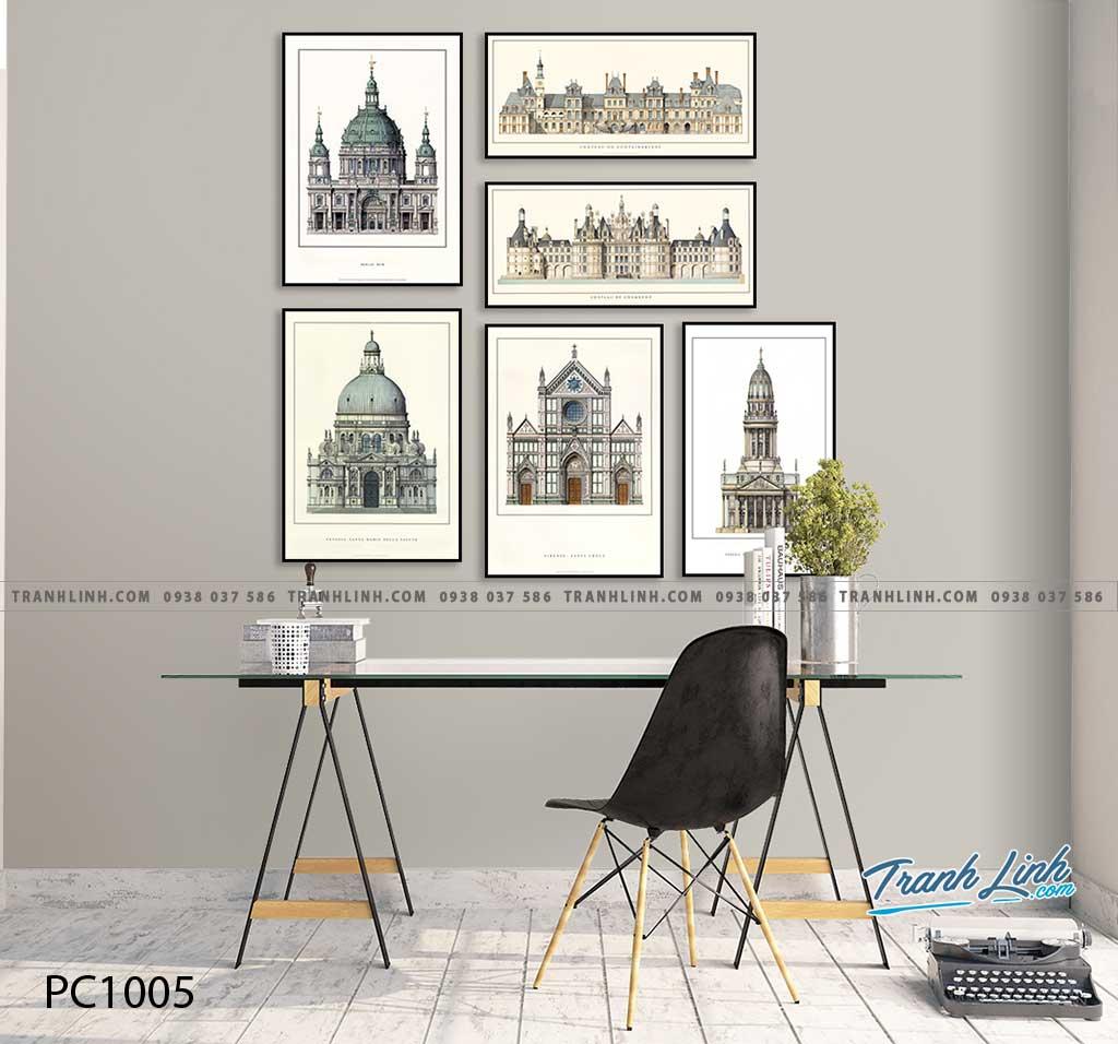 Bo tranh Canvas treo tuong trang tri phong khach phong canh PC1005