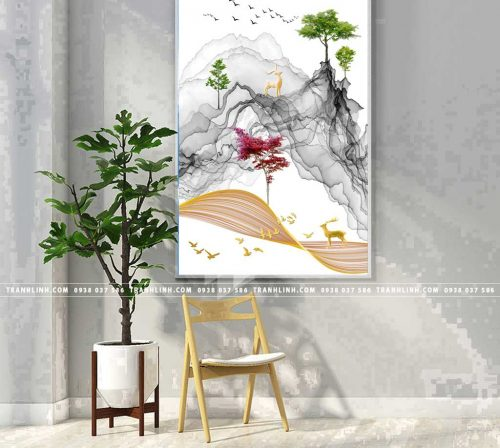 Bo tranh Canvas treo tuong trang tri phong khach phong canh PC1012