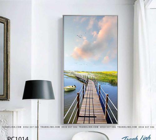 Bo tranh Canvas treo tuong trang tri phong khach phong canh PC1014