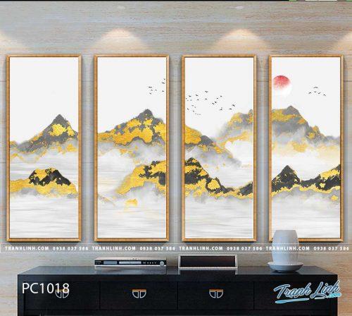 Bo tranh Canvas treo tuong trang tri phong khach phong canh PC1018