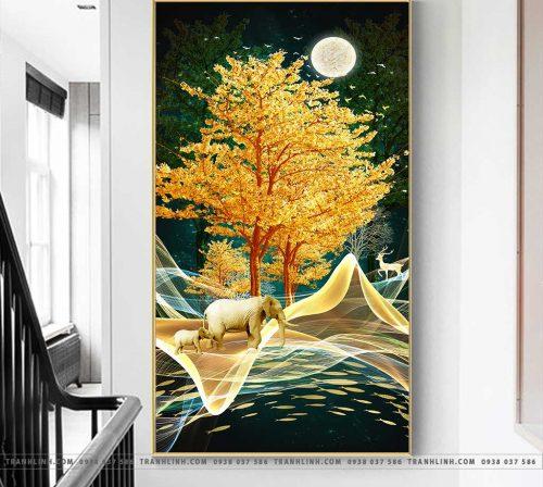 Bo tranh Canvas treo tuong trang tri phong khach phong canh PC1022